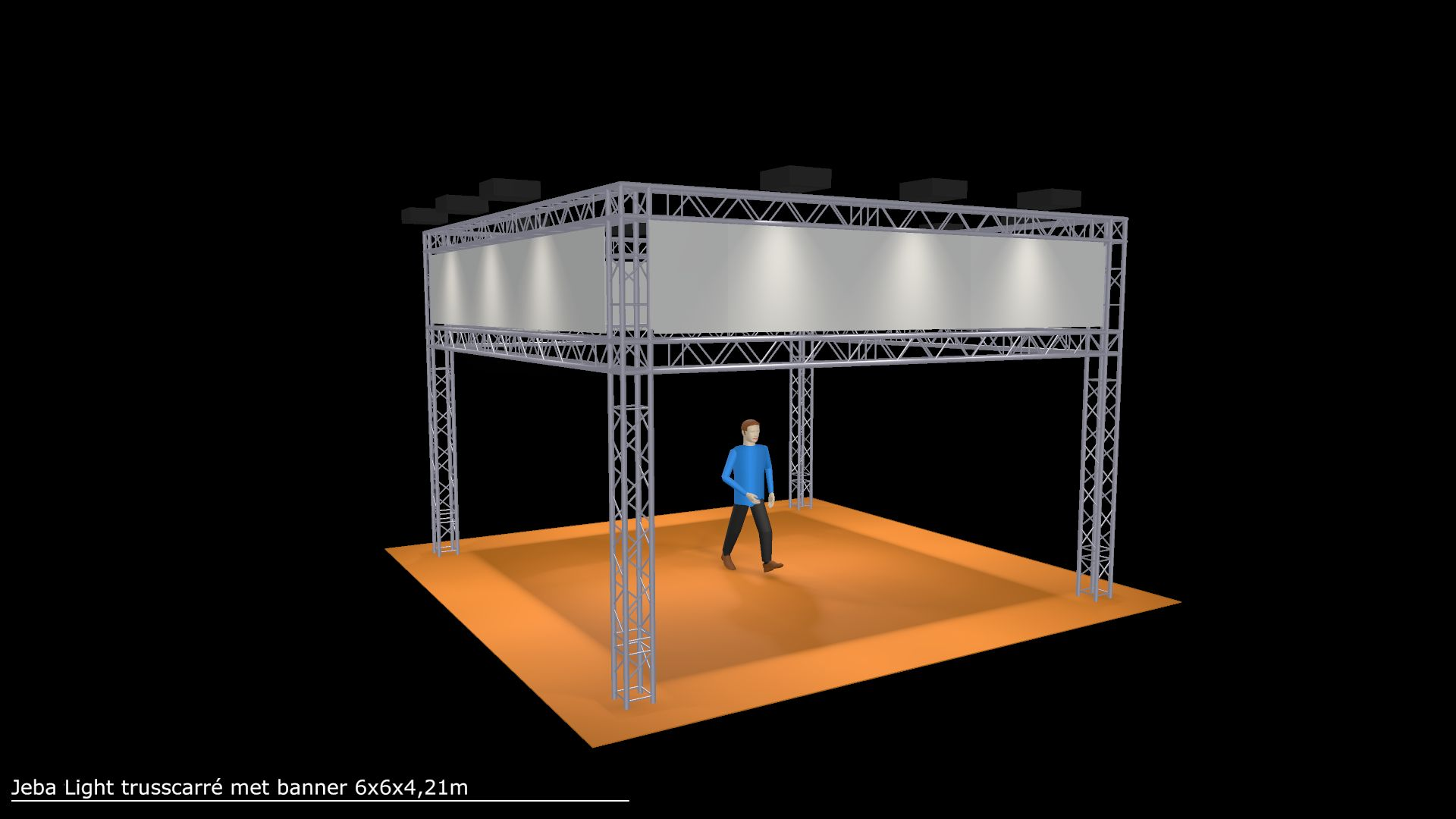 Truss carré 6x6x4,21m incl. ledverlichting